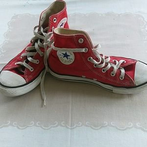 Converse red all star hi top size 3